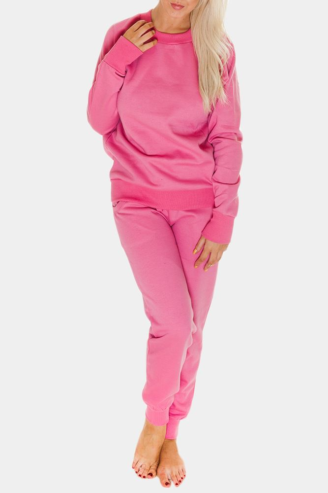 Valeria Womens Plain Jumper Sweater Jogging Sport Trouser Tracksuit - Love My Fashions - Womens Fashions UK