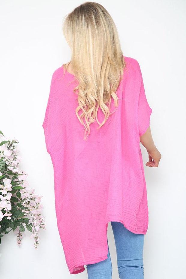 Italian V Neck Asymmetric Top