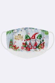 Merry Christmas Gnome Gifts Print Xmas Face Mask Cover