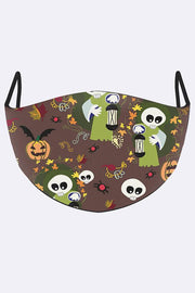 Funny Witch Print Face Mask Cover