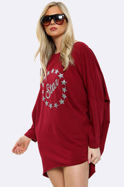 Italian Sequin Star Print Top