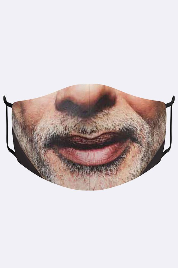 Man Old Man Beard Print Fashion Masks