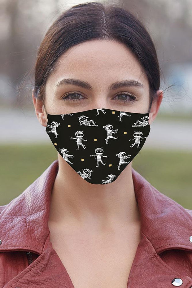 Halloween Print Face Mask Cover