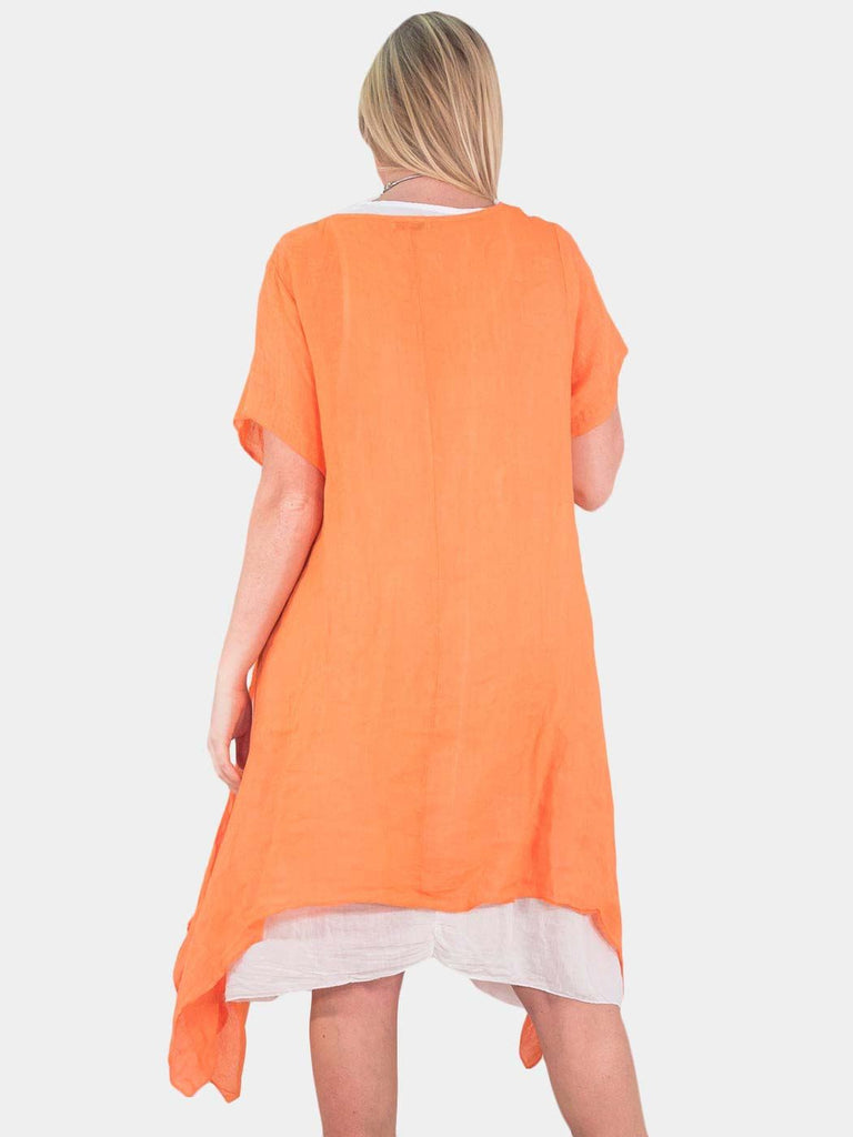 Isabel Lagenlook Linen A-line Dress - Love My Fashions - Womens Fashions UK