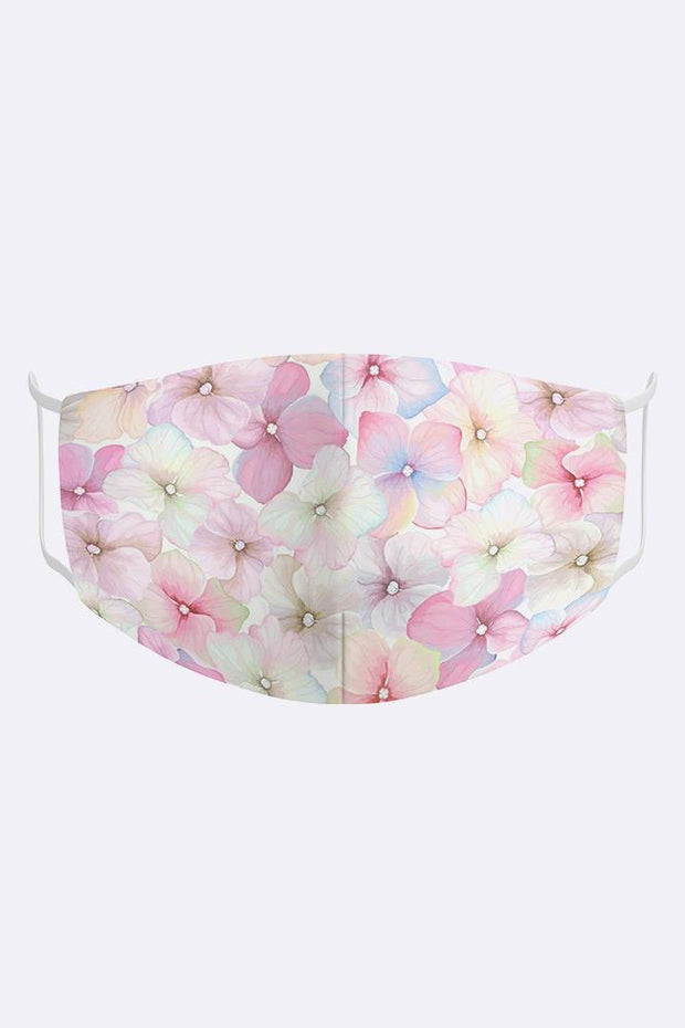 Kids Watercolor Floral 2 Ply Digital Print Cotton Face Mask Cover