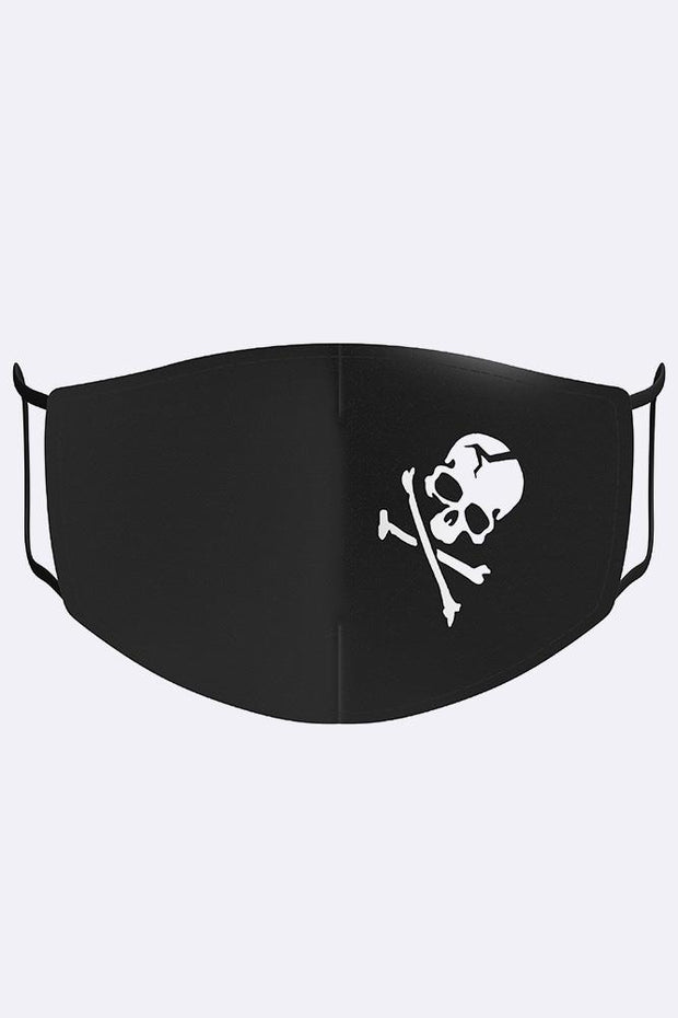 Fashion Mask with Skull & Bone Print
