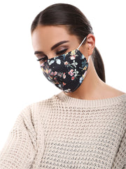 Blossom Spring Print Cotton Face Masks Cover_GRWO