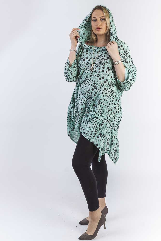 Asia Abstract Cirlcle Cotton Tunic Top - Love My Fashions - Womens Fashions UK