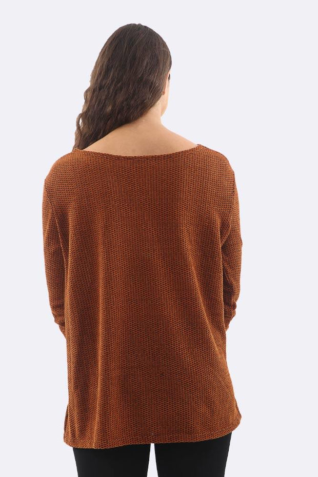 Paulina Knitted Textured Tunic Top