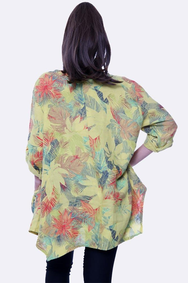 Italian Autumn Leaves Print Top
