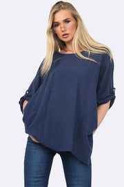 Italian Hanky Hem Side Pocket Top