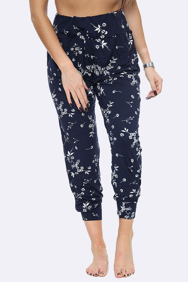 Small Floral Print Hareem Jogger