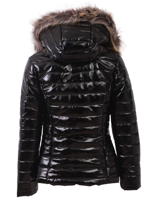 Georgia Quilted Faux Fur Hooded Long Sleeve Padded Jackets