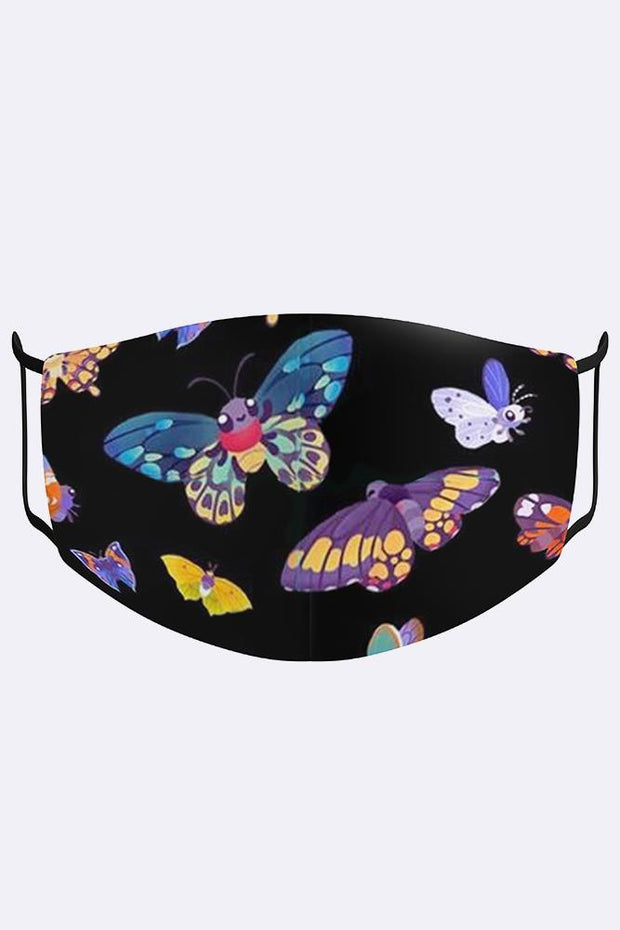 Multi Butterflies Print Digital 2 Ply Cotton Face Mask Cover