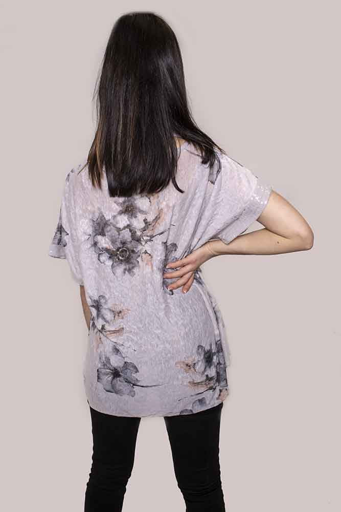 Alexis Floral Sequin Scarf Top - Love My Fashions - Womens Fashions UK
