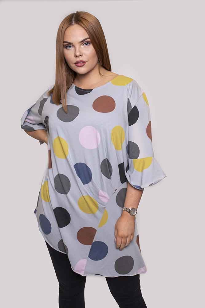 Florence Polka Dot Asymmetric Top - Love My Fashions - Womens Fashions UK