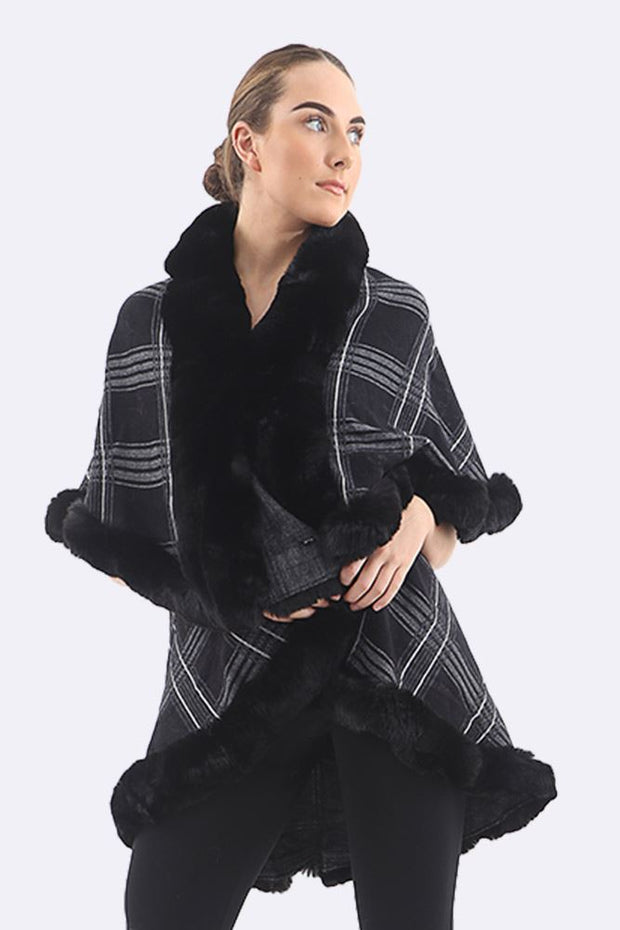 Camila Square Print Cape Poncho - Love My Fashions - Womens Fashions UK