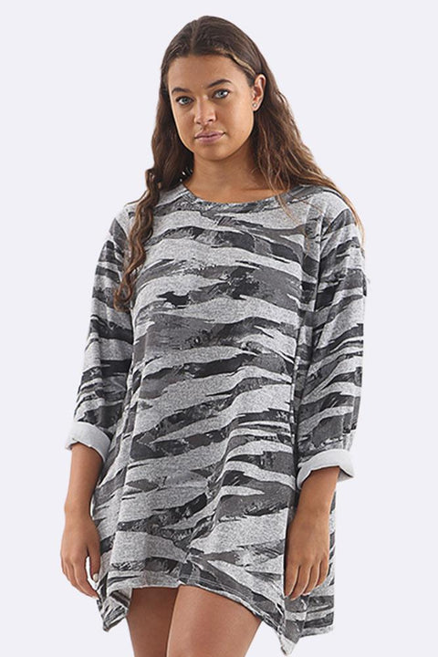 Gracie-mai Abstract Print Pocket Top - Love My Fashions - Womens Fashions UK