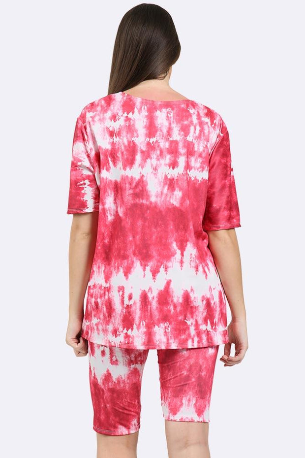 Tie Dye Textured Print Gym Suit_grwo