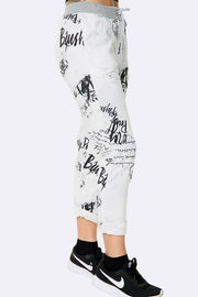 Graphic Stamp Print Jogger