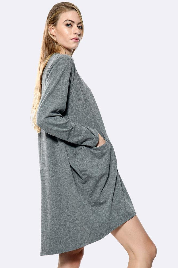 Italian Plain Oversized Pocket Top