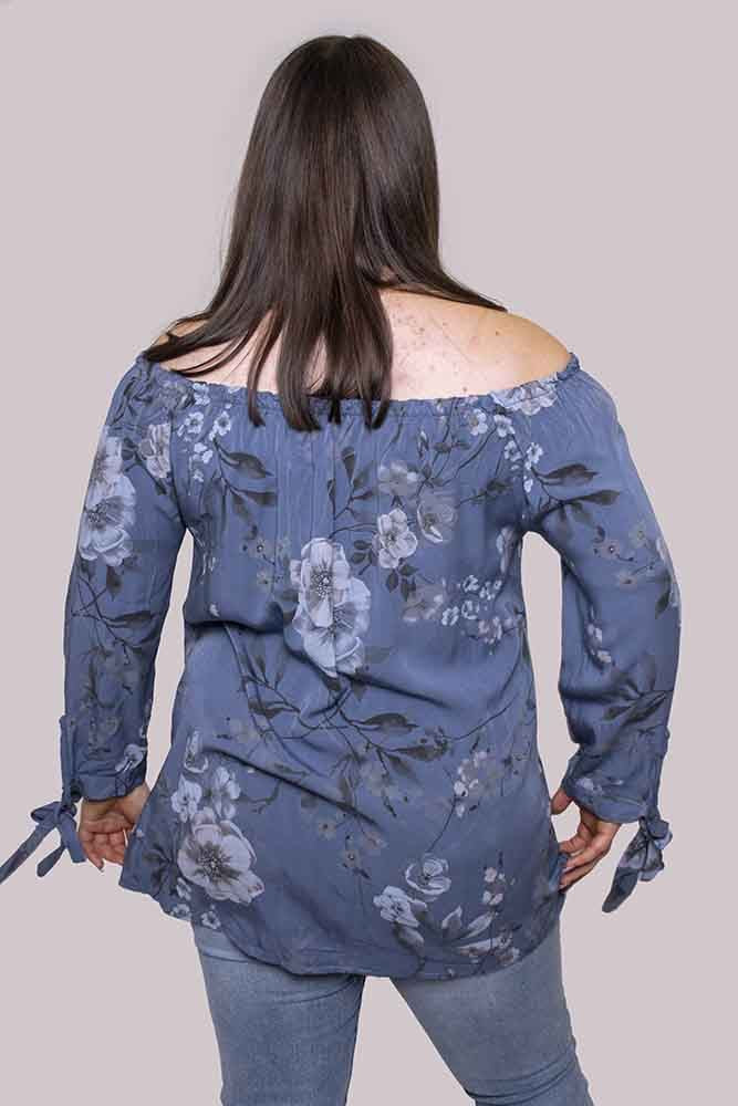 Caitlin Floral Bardot Top - Love My Fashions - Womens Fashions UK