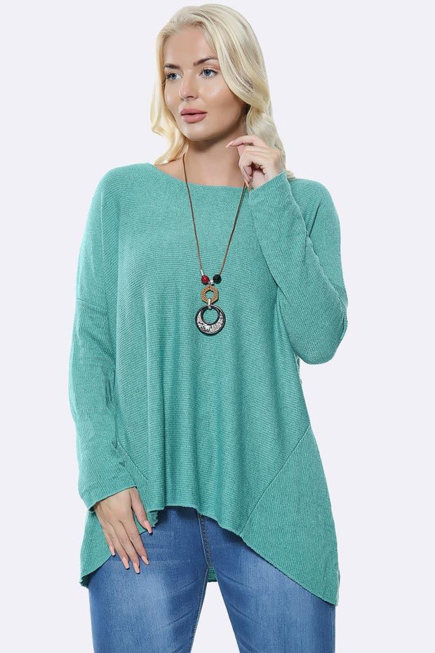 Italian Plain Tunic Necklace Top