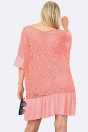 Italian Lace Peplum Panel Tunic