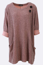 Melinda Two Button Front Pannel Pocket Top