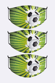Soccer Ball Digital Print Fashion Mask Cover