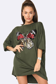 Embellished Butterfly Motif Top