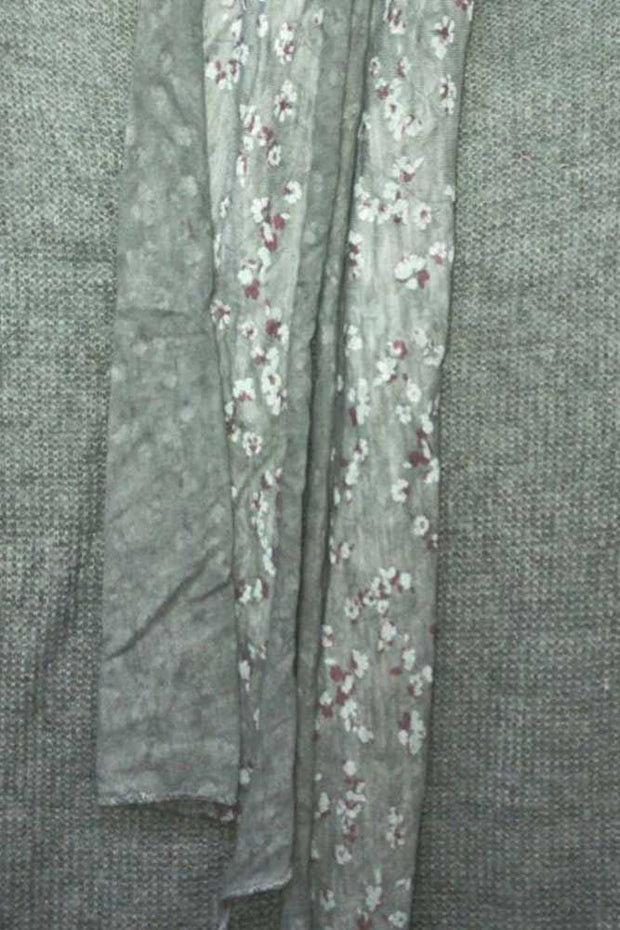 Italian Knitted Floral Layered Scarf Top