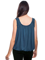 Dominika Basic Elasticated Gather Top Vest