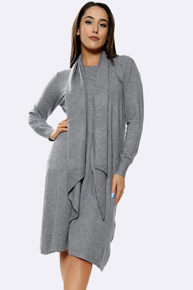 Diamante Scarf Plain Jumper Dress