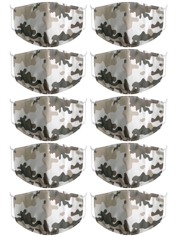 Camouflage Print Fashion Face Mask_GRWO