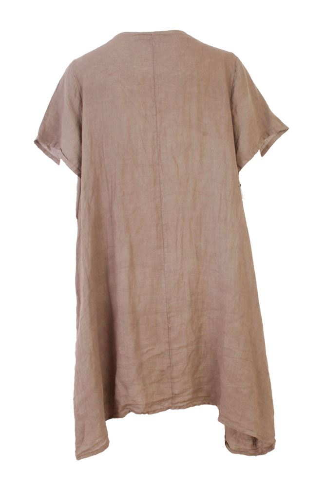 Amber Linen Necklace Pocket Dress - Love My Fashions - Womens Fashions UK