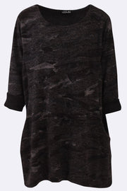 Gracie-mai Abstract Print Pocket Top