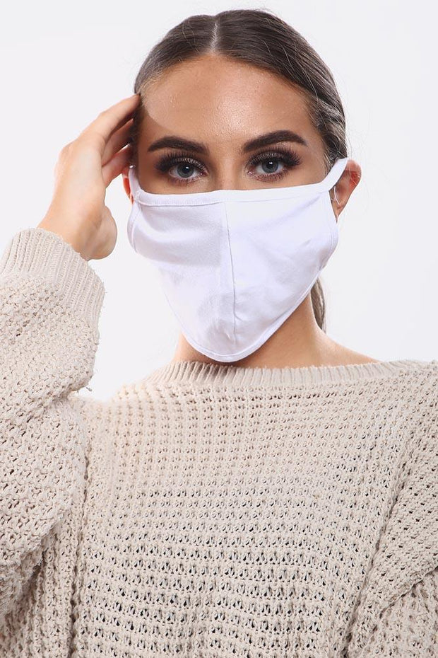 Plain 2 Ply Cotton Fashion Face Masks