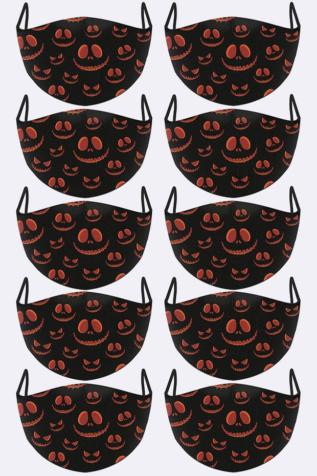 Scary Happy Face Print Face Mask Cover