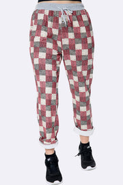 Italian Check Print Trousers