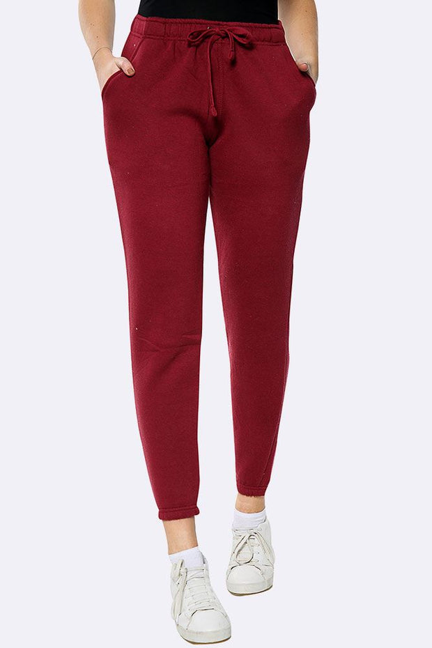 Fleece Full Length Close Hem Jogging Bottom