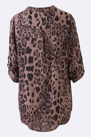 Gemma Leopard Print Shirt Top - Love My Fashions - Womens Fashions UK