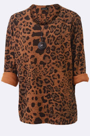 Ffion Leopard Print Moon & Star Necklace Top