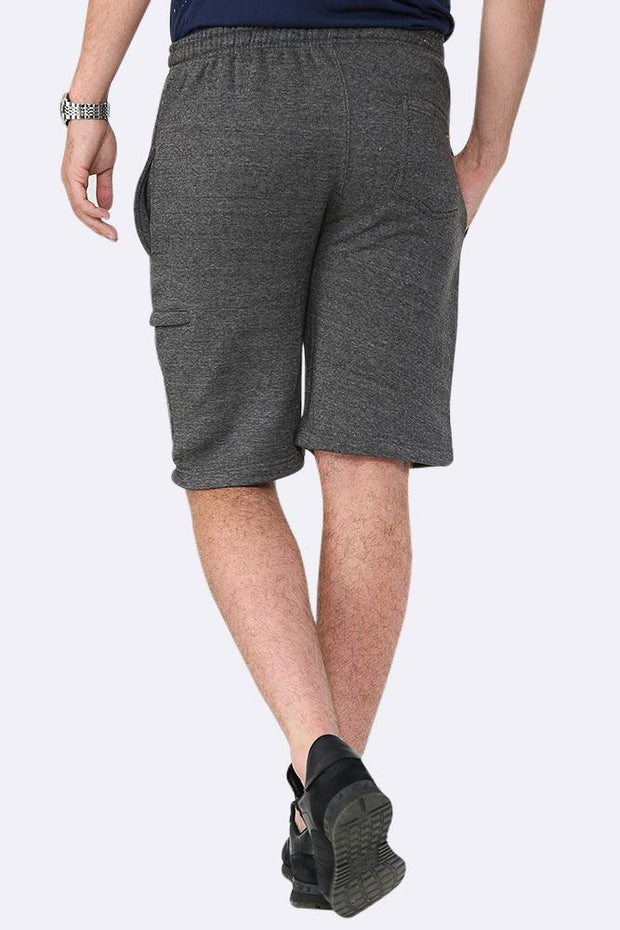 Men Drawcord Side Zipper Plain Shorts