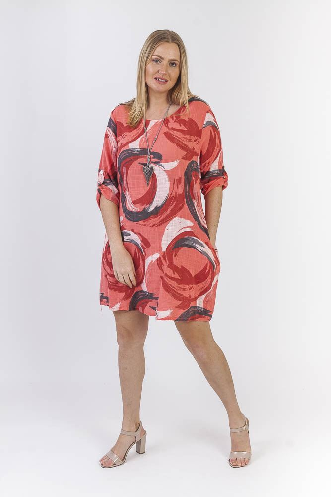 Leona Cotton Abstract Circle Pattern Top - Love My Fashions - Womens Fashions UK