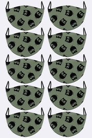 Halloween Print Face Mask Cover_grwo