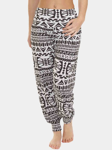 Emelia Aztec Print Full Length Ali Baba Harem Trousers - Love My Fashions - Womens Fashions UK