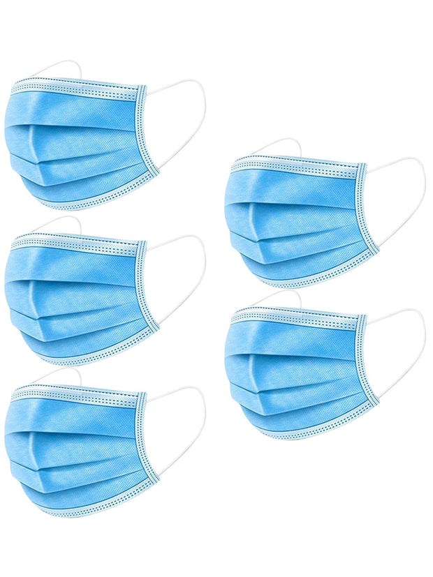 Disposable Non-Surgical Mask Dust Breathable Earloop Antiviral 3 Ply Face Masks_grwo