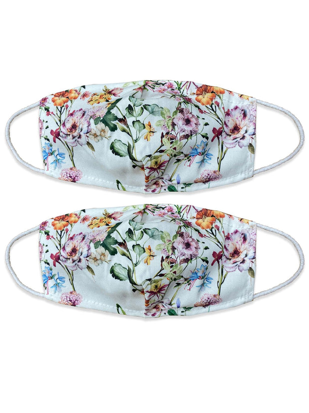 Daisy Print Mint Green Face Mask_GRWO
