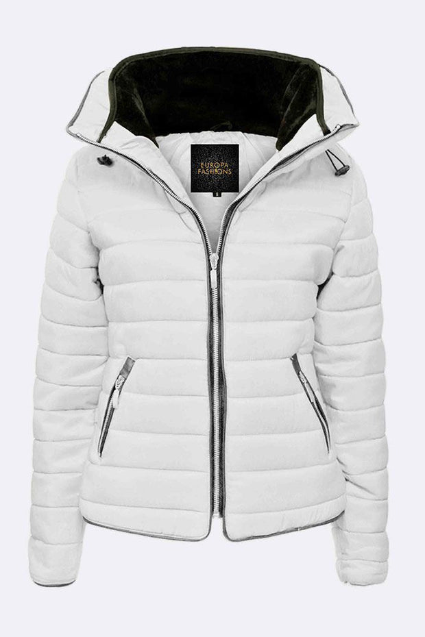 Amira Hooded Quilted Padded Jacket_grwo
